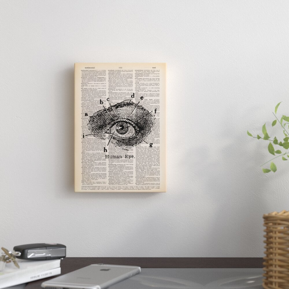 Pouf Urban Dictionary: East Urban Home 'Human Eye' By Book Dictionary Art Graphic