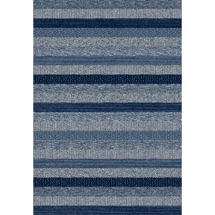 Read Reviews Mariah Hand-Woven Blue Area Rug By Breakwater Bay
