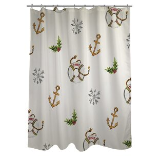Nautical Xmas Single Shower Curtain by One Bella Casa Fresh