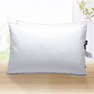 Osias Quilted Medium Feather and Down Bed Pillow (Set of 2)