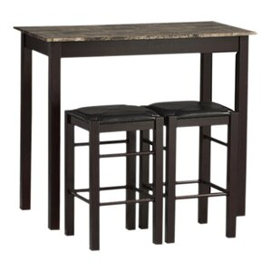 Prosser 3 Piece Counter Height Dining Set by Charlton Home