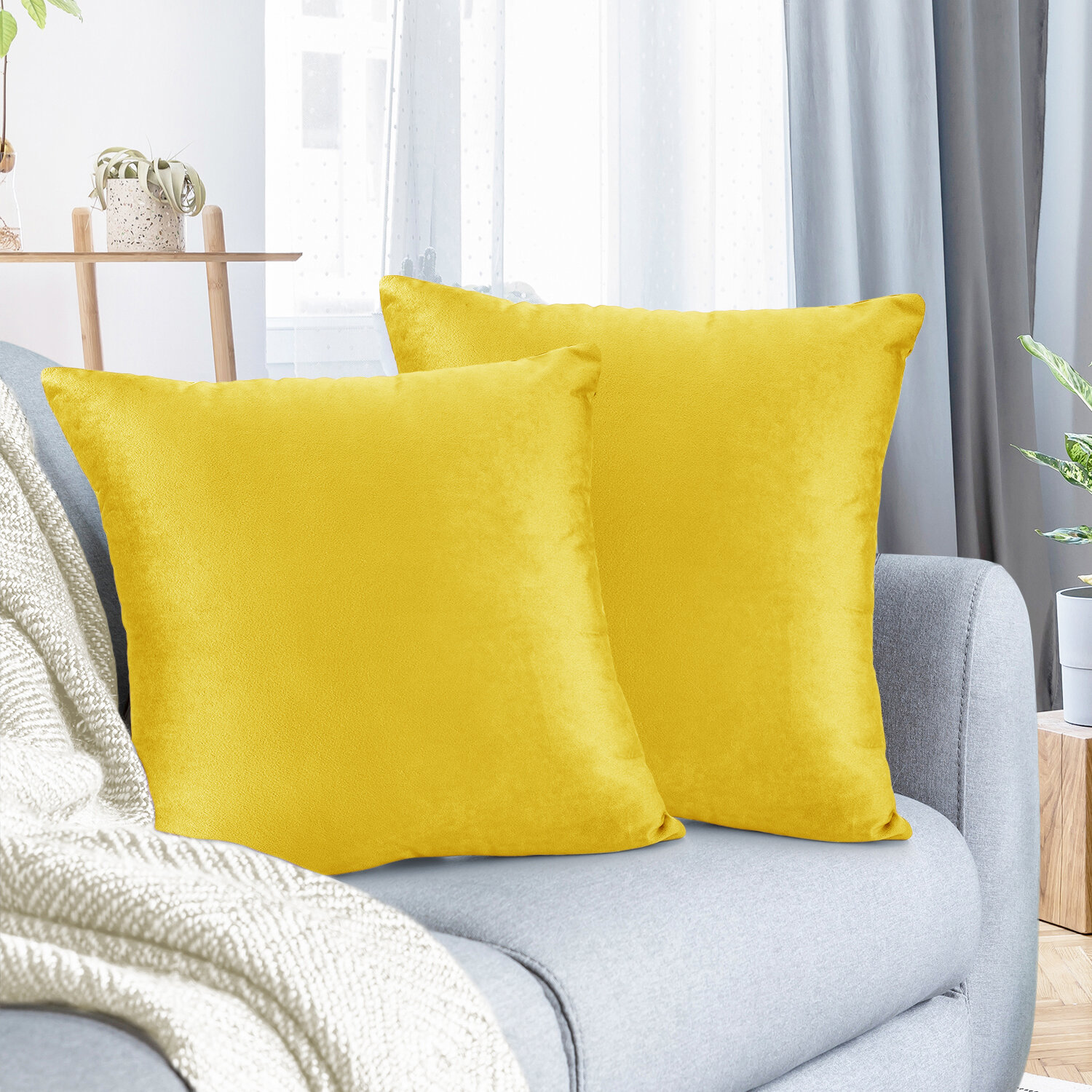Yellow And Gold Throw Pillows Free Shipping Over 35 Wayfair