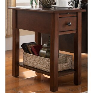 Lundgren End Table With Storage Andover Mills