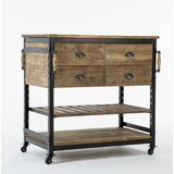Adalrik Kitchen Cart with Solid Wood Top by 17 Stories