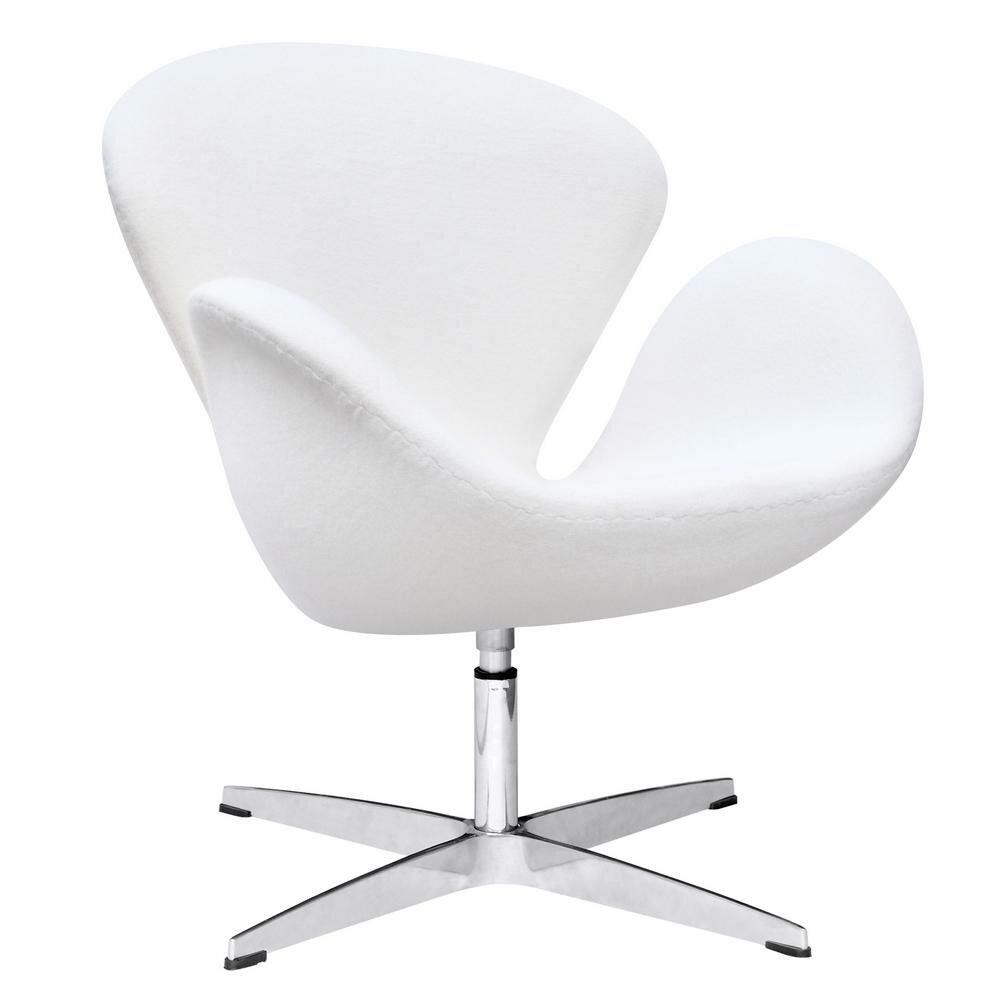 Fabulous Menik Swan Swivel Lounge Chair Bralicious Painted Fabric Chair Ideas Braliciousco