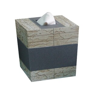 Loeffler Rustic Stone Antique Boutique Tissue Box Cover ByUnion Rustic