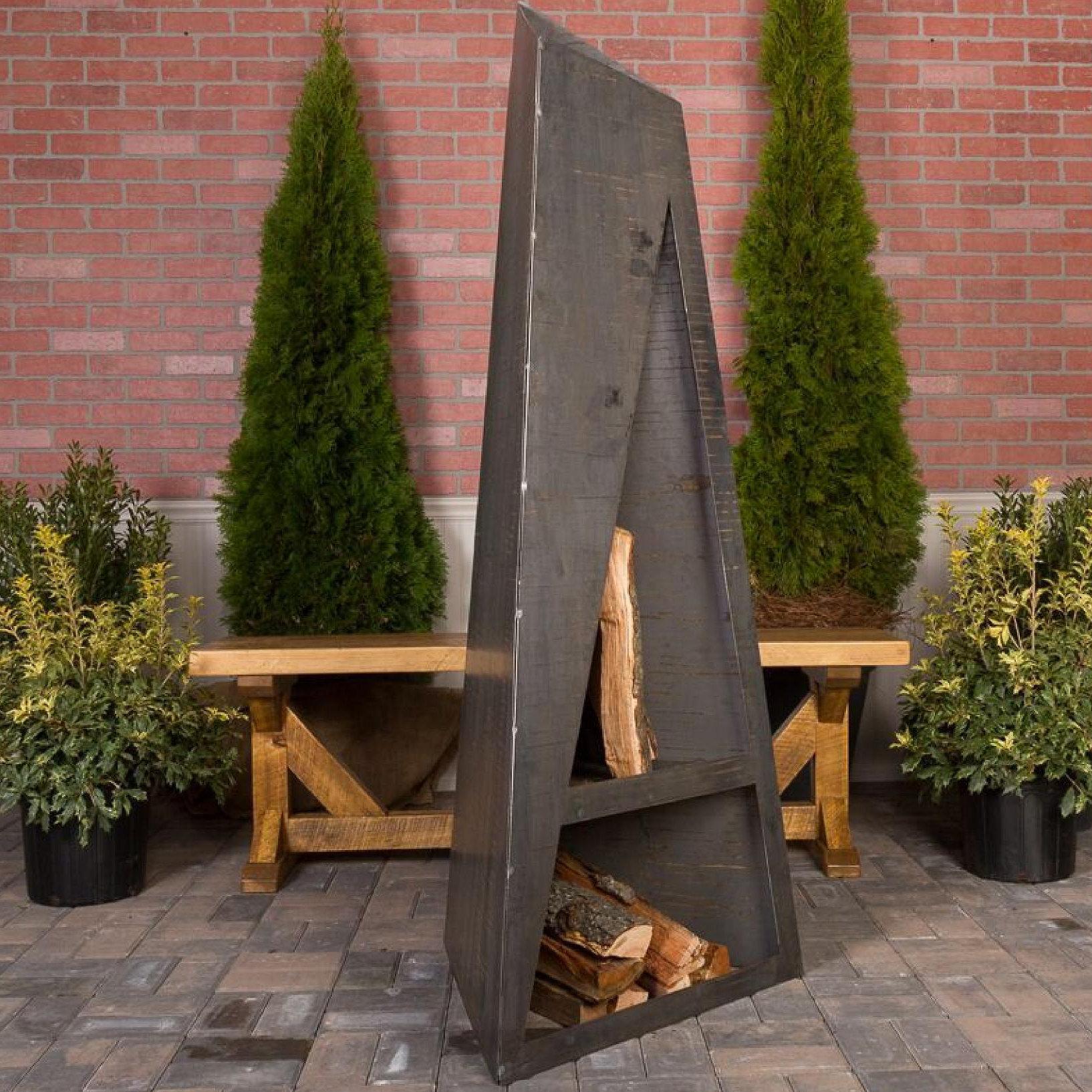 Wrought Studio Dalkeith Steel Wood Burning Outdoor Fireplace Wayfair
