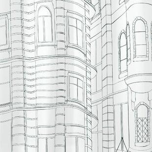 Mackay Cityscape Shower Curtain ByInterDesign