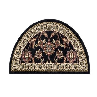 Fanchon Beautiful Hearth Slice Black Indoor/Outdoor Area Rug