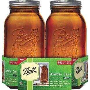 Elite Amber 2 qt. Canning Jar (Set of 4)