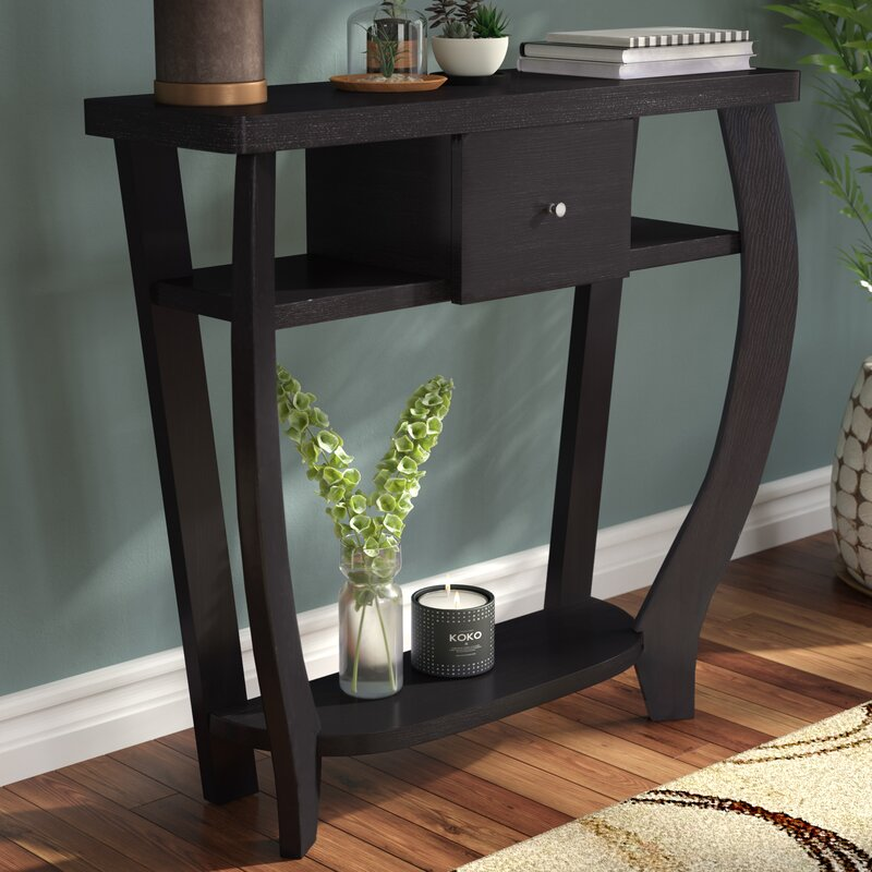 ebern designs hubbard wood grain console table reviews wayfair