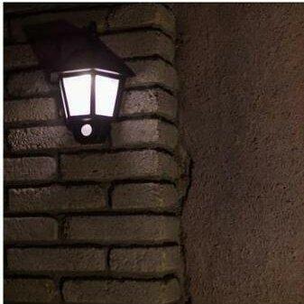 Pirtle Solar Ed Motion Sensor Led 1 Light Outdoor Wall Lantern