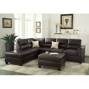 Shankle Reversible Sectional with Ottoman