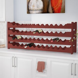 Karnes Pine Scalloped 48 Bottle Tabletop Wine Rack