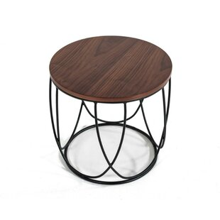 Dominick Round Metal End Table by 17 Stories