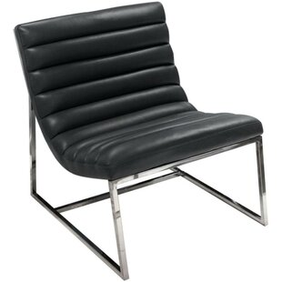 Gisela Leather Upholstered Lounge Chair