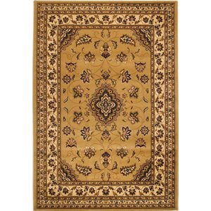 Cloudview Elegance Bordered Yellow Area Rug