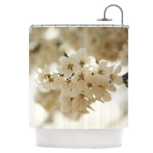 Flowering Pear Single Shower Curtain