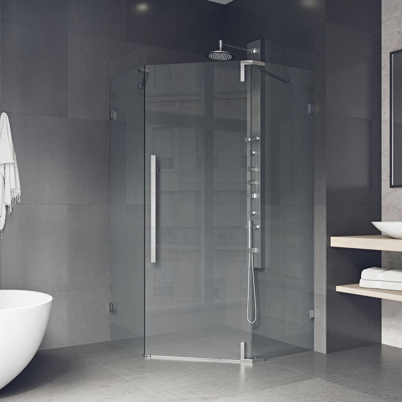 Vigo Ontario 34 X 74 Neo Angle Hinged Shower Enclosure Wayfair