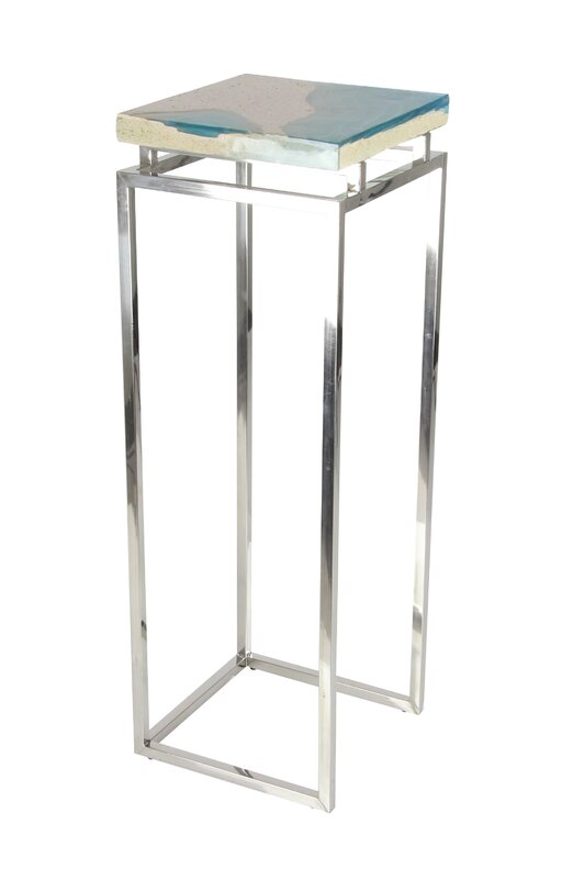 Stainless Steel/Polystone Pedestal 2 Piece Pub Table Set  sc 1 st  Joss \u0026 Main & Stainless Steel/Polystone Pedestal 2 Piece Pub Table Set \u0026 Reviews ...