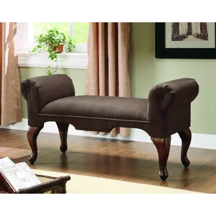 Bridger Upholstered Bench by Astoria Grand Today Sale Only