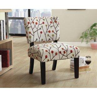 Flor Leaf Pattern Slipper Chair