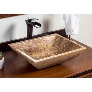 Best Corum Stone Rectangular Vessel Bathroom Sink ByLaguna Marble
