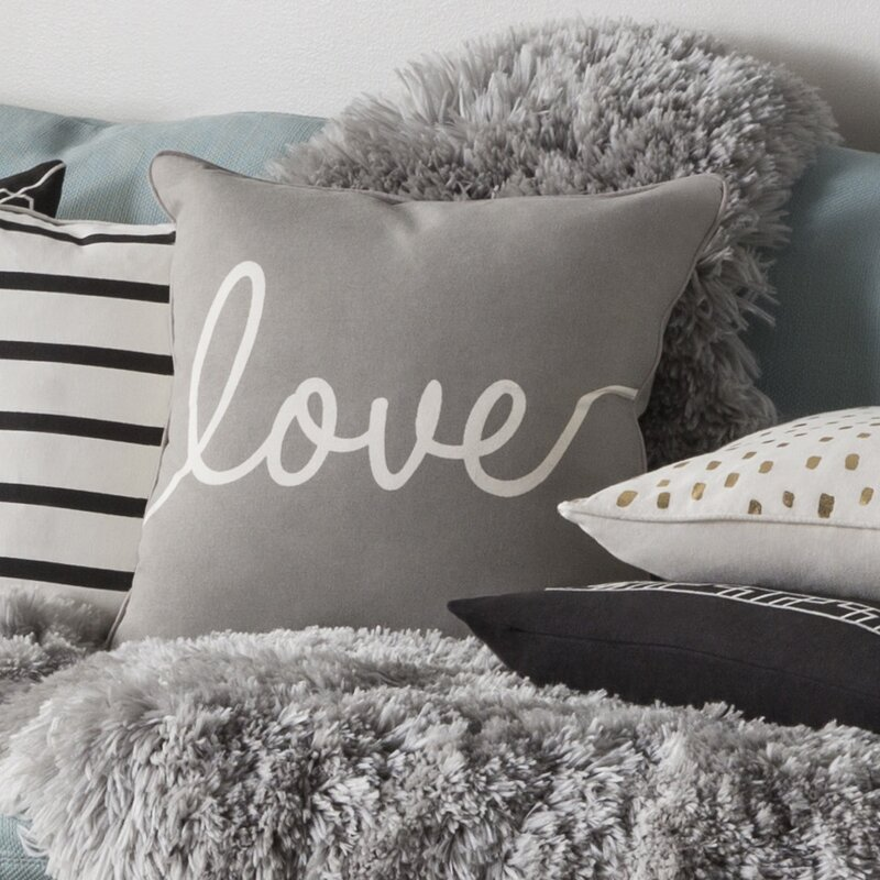 Marvelous Carnell Romantic Love Cotton Throw Pillow Cover