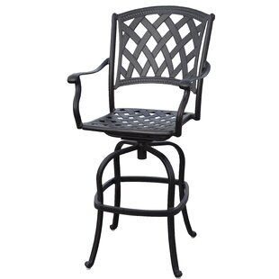 Campton Patio Swivel Bar Stool with Cushion (Set of 4) (Set of 4)