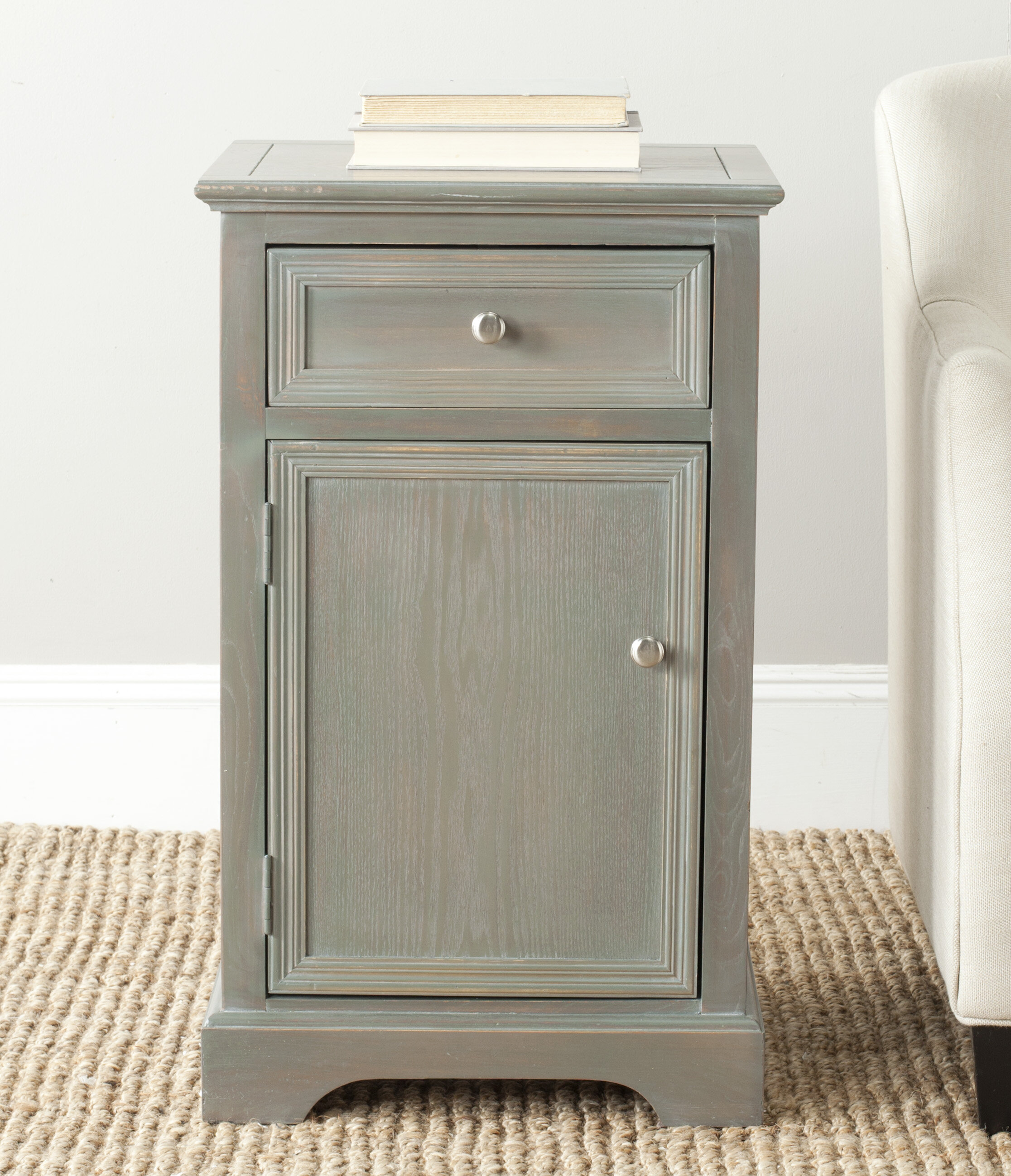 Beachcrest Home Joanna Solid Wood End Table With Storage Reviews Wayfair