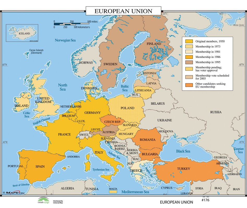 Universal Map World History Wall Maps European Union Reviews - Wall maps of the world