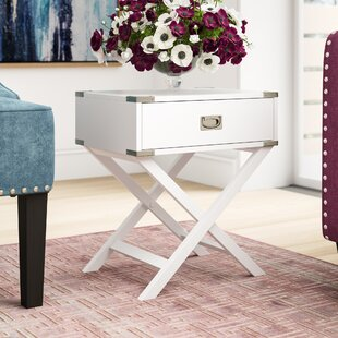 Marotta 1 Drawer End Table Mercury Row