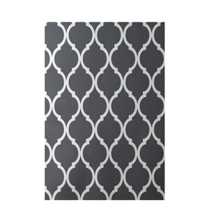 French Quarter Geometric Print Steel Indoor/Outdoor Area Rug Bye by design