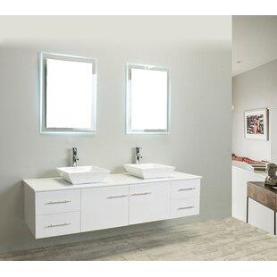 Comparison Vinit 60 Wall-Mounted Double Bathroom Vanity Set ByOrren Ellis
