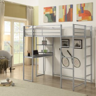 West Boylston Contemporary Twin Bunk Configuration Bed with Ladders