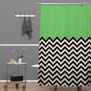 grey and green shower curtain. Bianca Green Shower Curtain Modern Curtains  AllModern