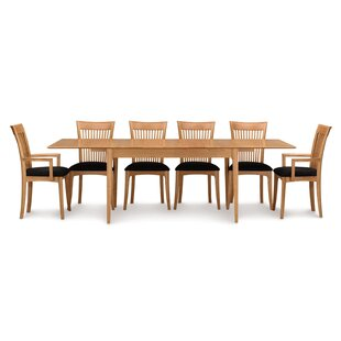 Sarah 7 Piece Extendable Solid Wood Dining Set Copeland Furniture