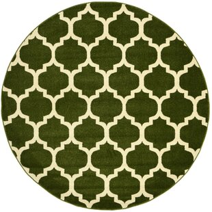 Moore Green/Beige Area Rug by Charlton Home