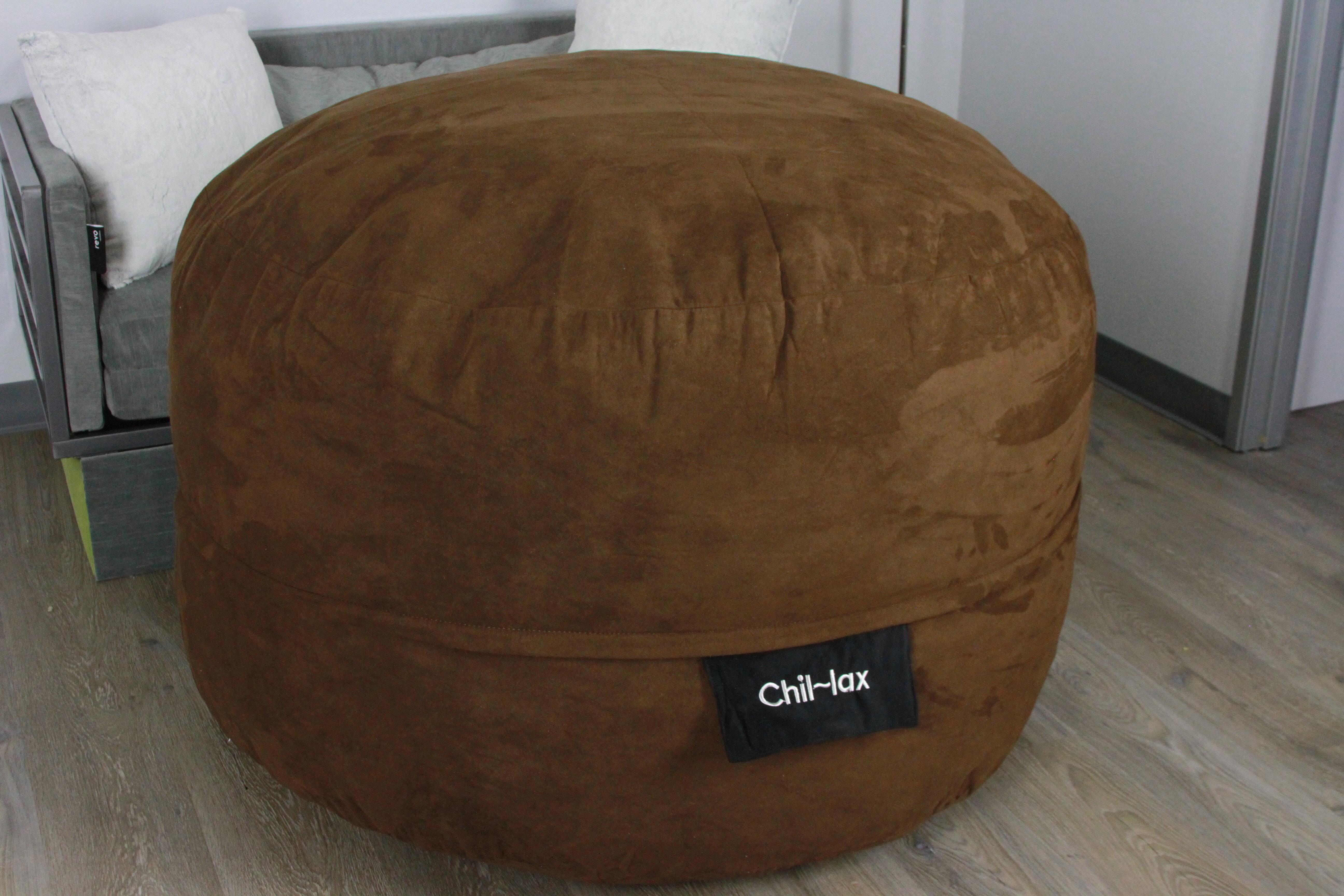 Fantastic Chil Lax Lounger Chocolate Suede 30 H X 48W X 48 D Bean Bag Chair Uwap Interior Chair Design Uwaporg