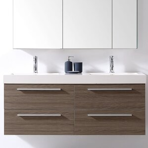 double bathroom vanity. Finley 54  Double Bathroom Vanity Set Modern Vanities AllModern