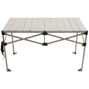 Gear Roll Top Folding Aluminum Camping Table by Rio Brands Best Choices