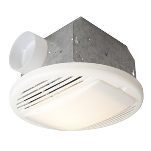Bath fans with lights youll love wayfair premium builder bath exhaust fan 50 cfm aloadofball Image collections