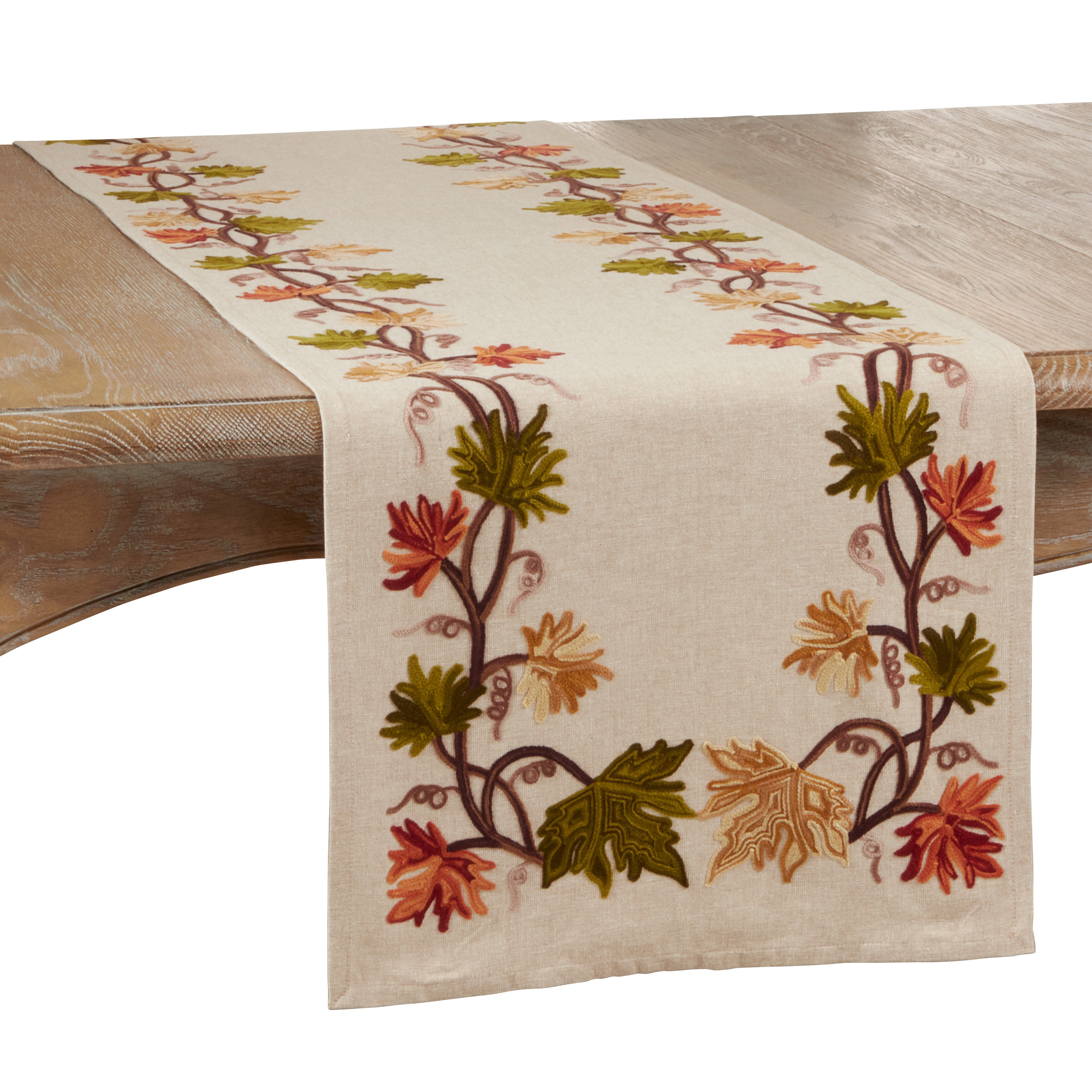 Red Barrel Studio Lacie Mae Fall Leaf Design Table Runner Wayfair