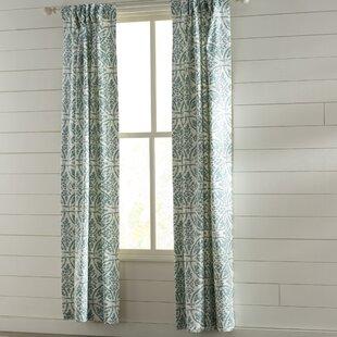 Olmo Floral/Flower Room Darkening Thermal Rod Pocket Single Curtain Panel by One Allium Way