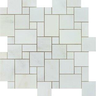 "Oriental Mini Versailles 12"" x 12"" Marble Mosaic Tile by"