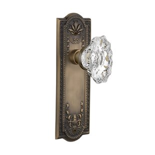 Chateau Passage Door Knob with Meadows Plate by Nostalgic Warehouse