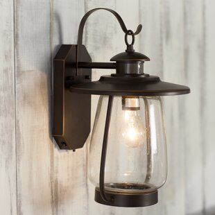 Check Prices Ashford 1-Light Outdoor Wall Lantern By Three Posts