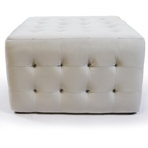 Bridgeview Square Tufted Padded Ottoman by A..