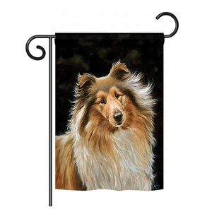 Collie 2-Sided Vertical Flag by Breeze Decor