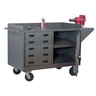 Mobile 65W Steel Top Workbench by Durham Manufacturing